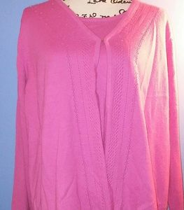 Pink 2-in-1 Sweater Blouse